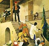General Gordon about to be killed in Khartoum in February 1865