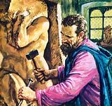 Michelangelo at work