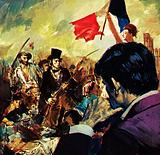 Delacroix being inspired by a real event to create his famous picture on Revolution