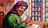 Geoffrey Chaucer writing