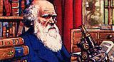 Charles Darwin in his study