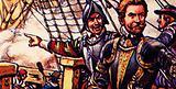 Sir Francis Drake directing the destruction of the Armada