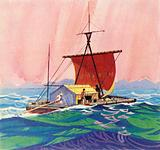 Heyerdahl's replica 16th century boat was named Kon-Tiki