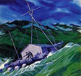 Kon-Tiki during a furious storm