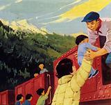 As the children began to suffer from malnutrition, they reached a railway line