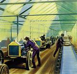 Henry Ford's idea for production line work revolutionised manufacturing