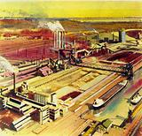 Henry Ford's business included steel works, timber forests, coal mines, mills and plantations
