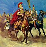 Roman general Stilicho rode to meet the threat of invading Christian Goths
