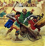 As the signal was given for the games to begin, Telemachus ran forward