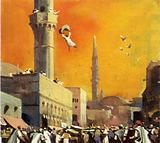Saracen of Constantinople flung himself from a minaret
