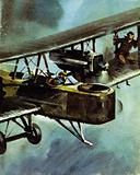 Alcock and Brown made the first transatlantic flight in a modified Vimy bomber