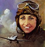 Amy Johnson who flew from Croydon to Capetown