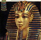 The gold mask of King Tutankhamen