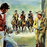 Amongst the Texans defending the Alamo were Jim Bowie and Davy Crockett