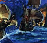 In 1520, Magellan entered the straight that bears his name