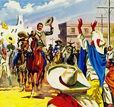 People cheered Pancho Villa in the streets as a hero of the revolution