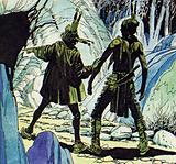 Gamut leads Heyward to the cave where Alice is being held