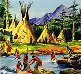 The Nez Perce Indians dwelt in the Wallowa Valley in what is now Oregon