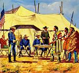 Chief Joseph prepared to move his people to a reservation