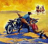 The Contal ran out of petrol in the Gobi Desert