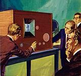 Baird showed that he could transmit static pictures across a room