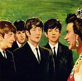 The Beatles were presented the MBE by the Queen