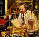 Einstein worked at numerous universities and polytechnics