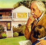 Einstein lived in Princeton where he died in 1955