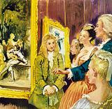 Watteau came to London where he had many admirers