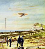 Bleriot spotted the white cliffs of Dover