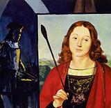 Raphael began to receive his own commissions