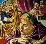 Petronius gave the sign for mercy