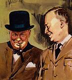 Eisenhower and Winston Churchill