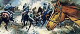 The Confederate States began a bitter Civil War in 1861
