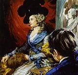 Gainsborough travelled to London to paint the actress Mrs Siddons