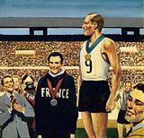 Zatopek won his first Olympic gold medal in London in 1948