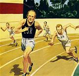 One of his toughest races was in 1952 when he raced against Mimoun of France