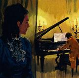 George Sand took Chopin to a house in Nohant where he continued to compose