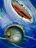 In 1934, William Beebe descended 3,028 feet in a bathysphere