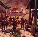 Genghis Khan killed the population of Pekin and razed the city to the ground