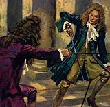 Handel and a composer and singer named Mattheson fought a duel with swords