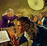 Handel once threw a kettle drum at an orchestra leader