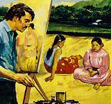 Gauguin painted native girls in Tahiti