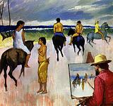 Gauguin went to the Marquesas Islands and painted the natives