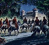 Rassendahl and several trusted men approached Black Michael's grim fortress