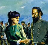 For her aid, Stonewall Jackson personally thanked her