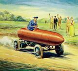 The battle between Camille Jenatzy and Count Gaston de Chasseloup-Laubat pushed up the land speed record