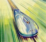 John Cobb raced his old Railton at Bonneville Salt Flats and averaged over 400 mph