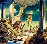 Ulysses stepped past the lions and wolves at Circe's house