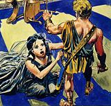 Circe struck Ulysses but it had no effect whatsoever